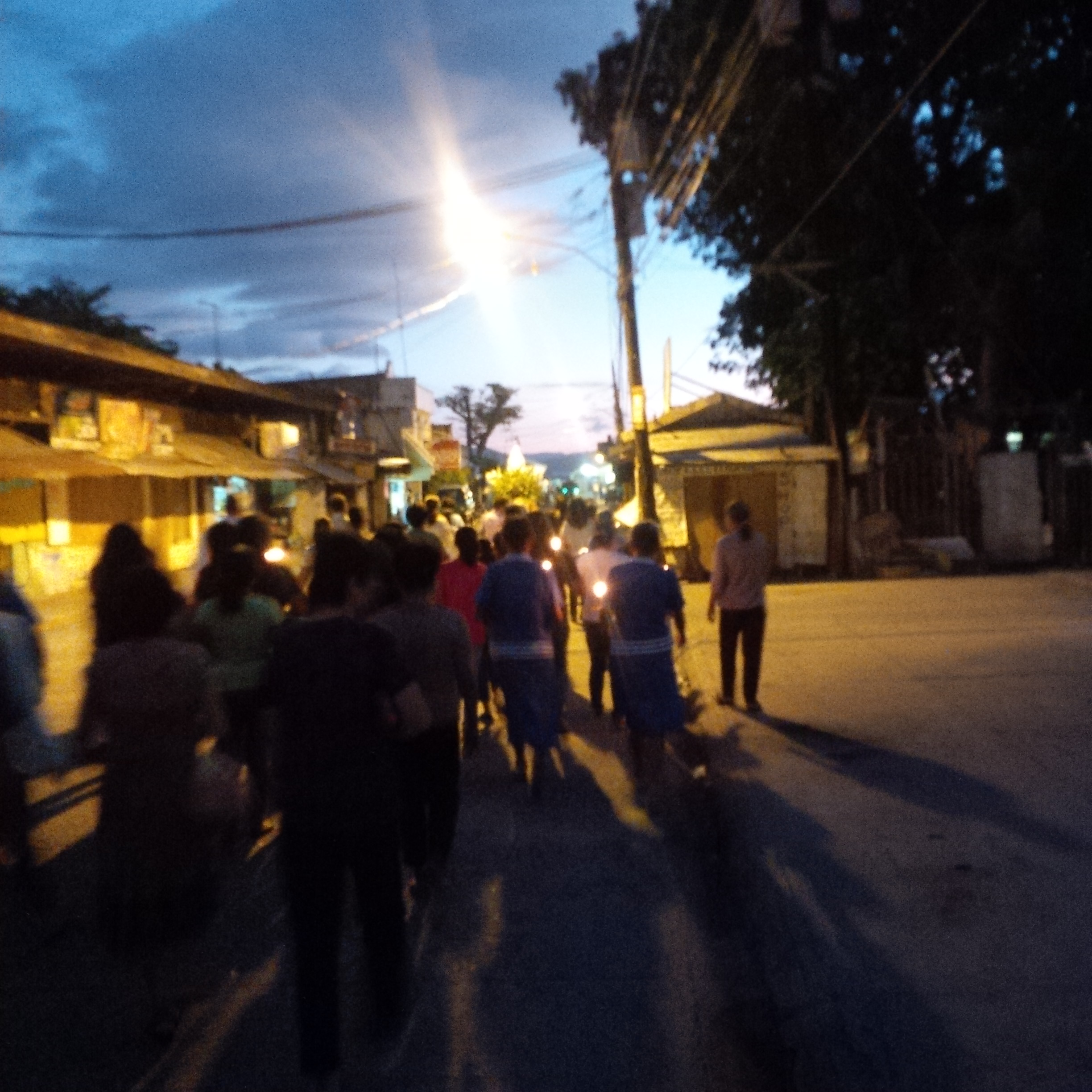 5AM, walking the streets while praying the Rosary.